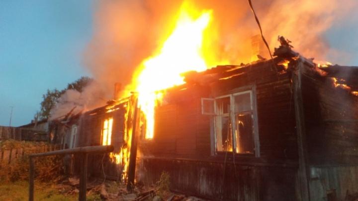 В Котласском районе в пожаре погибли мать и ее сын-инвалид
