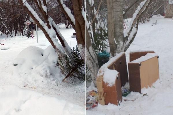 Та же ёлка, тот же мусор