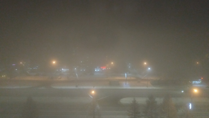 Красноярск встречал Новый год в дымке. Но официально загрязнения в городе нет