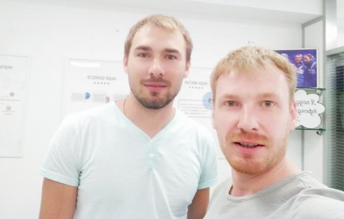 На этом фото Антон Шипулин с Егором Бычковым