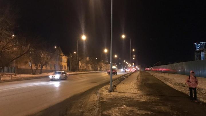 В Самаре включили освещение на улице Луначарского