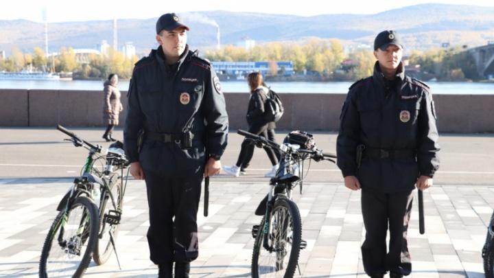 Завершился сезон работы полицейских велопатрулей по Красноярску