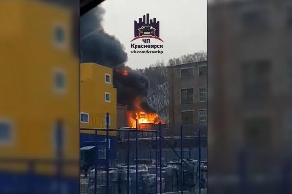 По версии пожарных, причина в мусоре