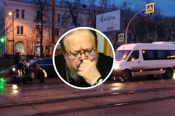 Авария произошла рано утром на Первой Пятилетки, когда сотрудники епархии, в том числе отец Игорь Шестаков, направлялись на службу