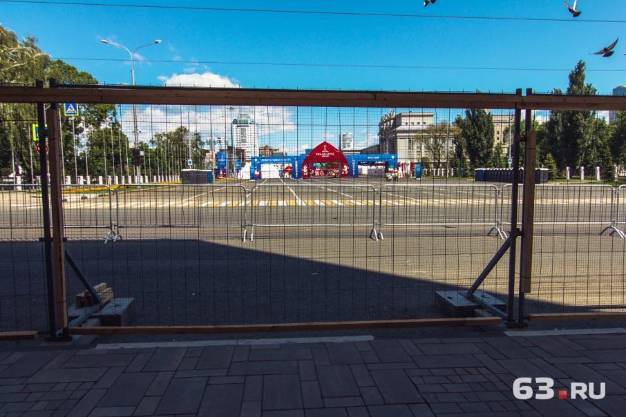 Движение транспорта ограничивают из-за проведения фан-феста на площади Куйбышева