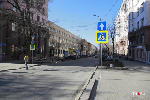По улице Советской можно ехать в сторону от проспекта Ленина
