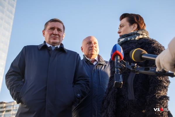 Хозяйка будущего концессионера с главой Волгограда и губернатором