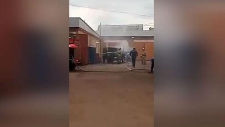 В Башкирии дотла сгорел грузовик «Почты России»