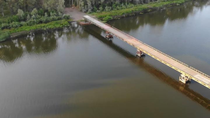 В Самарской области военные навели мосты через реку Самару