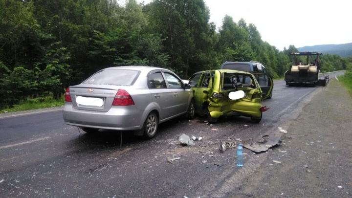 Уснул за рулём: в Башкирии водитель из Челябинской области устроил тройное ДТП