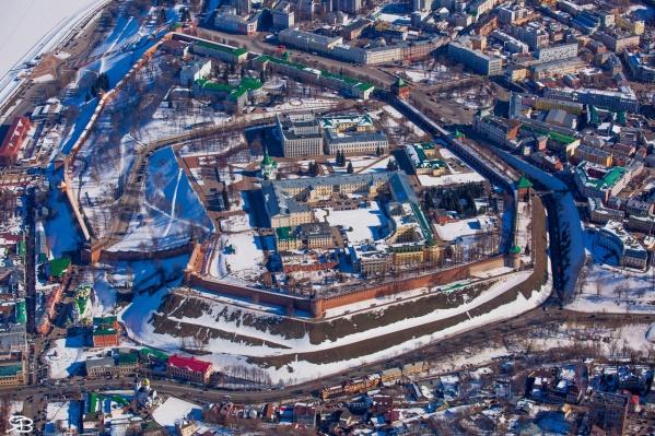 Есть не так много снимков, которые позволяют хорошо разглядеть Кремль сверху
