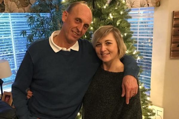 Ольга и её американский муж Рик Брукман