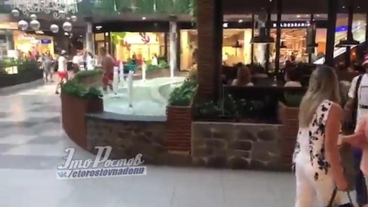 Ты — не ты, когда жарко: ростовчанин искупался в фонтане торгового центра