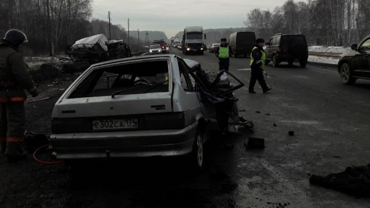 Умер один из шести раненых в столкновении «Газели» и легковушки на трассе Челябинск — Екатеринбург