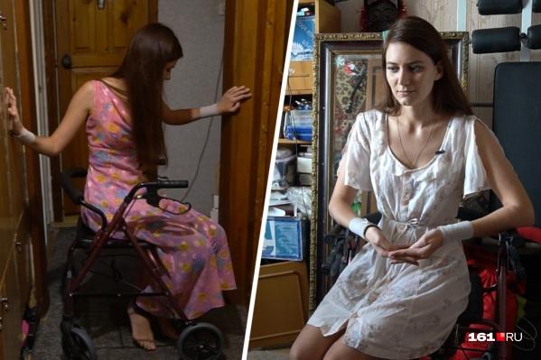 Перенеся обычный грипп на ногах, Виктория очутилась в больнице, а затем — в инвалидном кресле