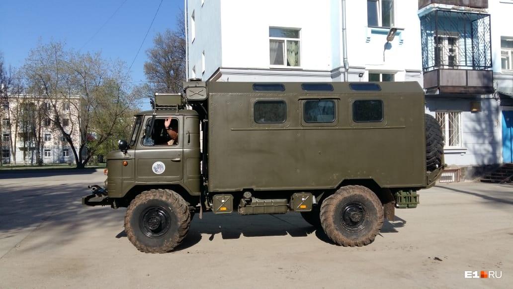 На такой машине путешествуют немцы
