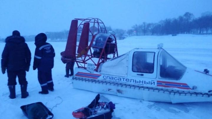 В Самарской области четверо рыбаков заблудились на Волге из-за метели