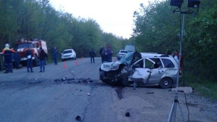 Появилось видео с места ДТП в Башкирии с пятью погибшими