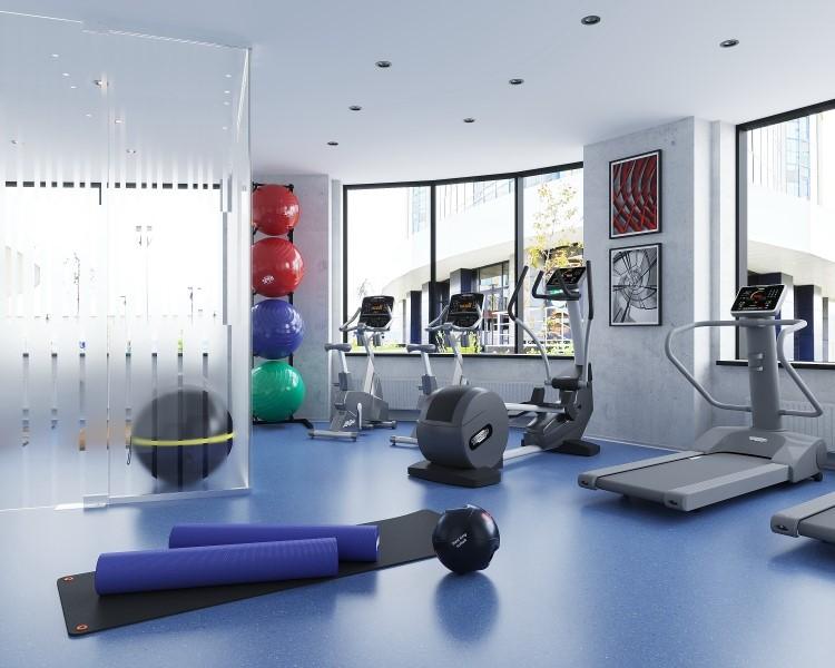 В жилом комплексе есть бесплатный спортзал для жителей, где можно тренироваться индивидуально или проводить групповые занятия с соседями
