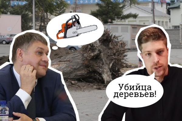 Лев Владов после получения ответа на свой официальный запрос назвал главу Калининского района Сергея Колесника убийцей деревьев