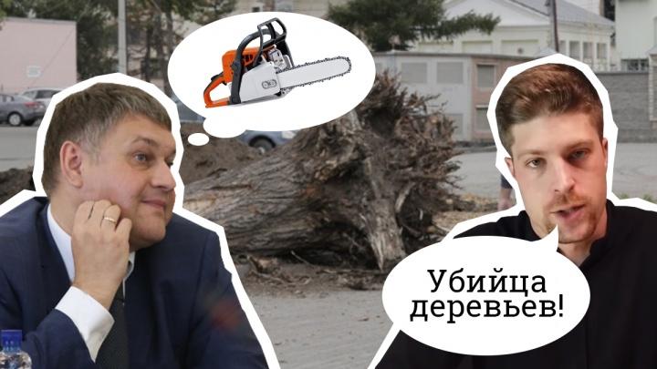Вырубленные на набережной в Челябинске деревья были здоровыми. Но урбанисту твердят, что он не прав