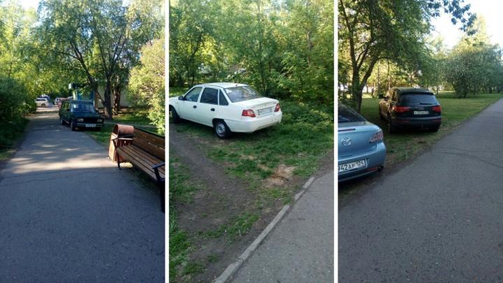 Автохамы повадились парковаться на аллее на Краснодарской