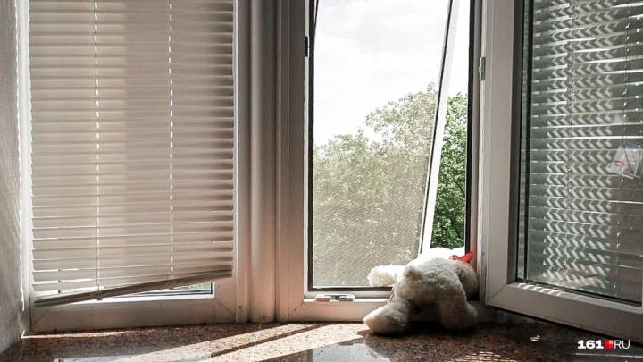 В Таганроге семилетняя девочка выпала из окна