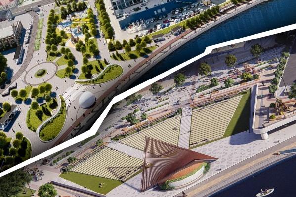 Проекты набережной в Челябинске разрабатывали практически параллельно друг с другом