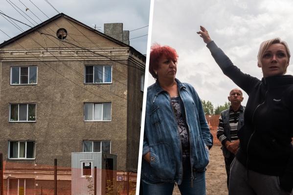 На прошлой неделе жители дома услышали, как трещат стены дома