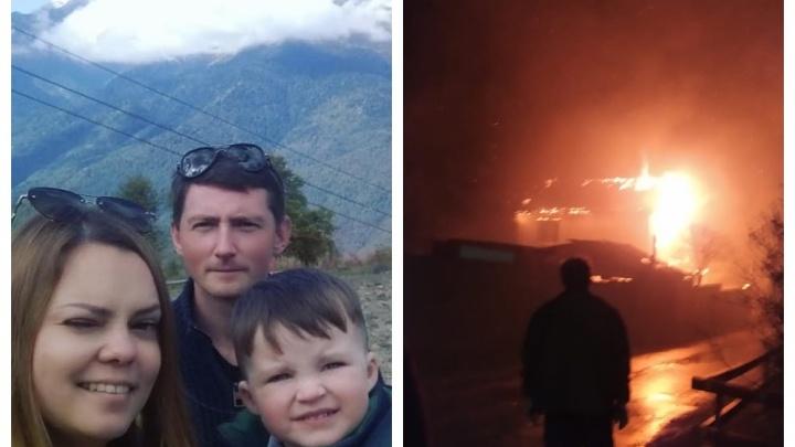 Сгорели все вещи: под Екатеринбургом молодая семья лишилась жилья из-за крупного пожара
