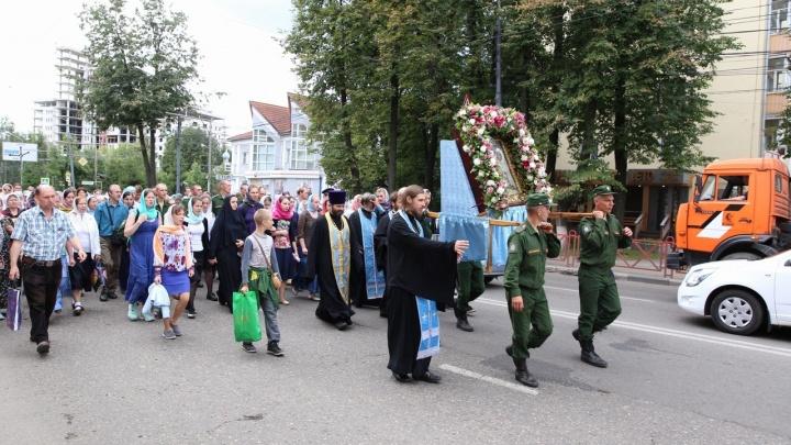 Из-за крестного хода с иконой в центре Ярославля перекроют дороги