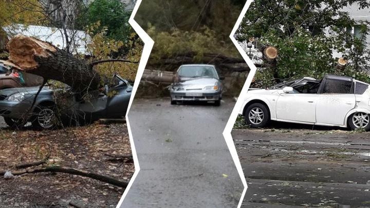 «Бомбежка» по машинам и трамвайный паралич: что ураган натворил в Самаре