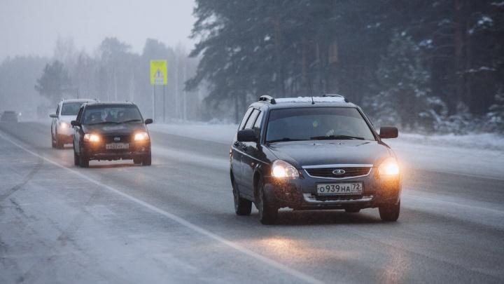 Видимость никакая: трассу Тюмень — Омск накрыл густой туман