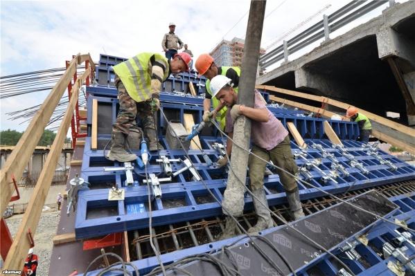 Процесс бетонирования — непрерывный, бессекционный