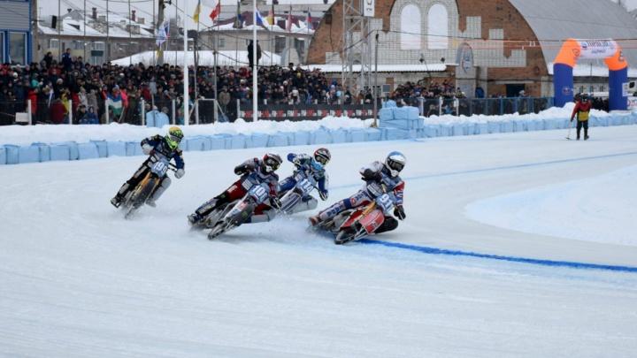 В Шадринске прошел финал № 3 личного чемпионата мира по мотогонкам на льду