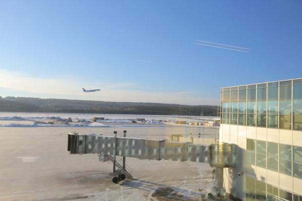 Первый рейс из нового аэропорта