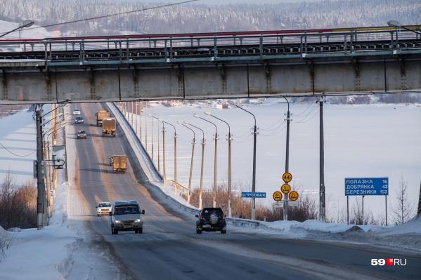 Женщина была сбита в районе Чусовского моста