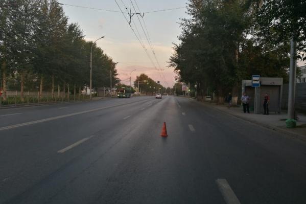 Место ДТП в Ленинском районе