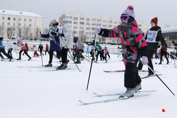 Свою лыжню проложили и самые маленькие участники