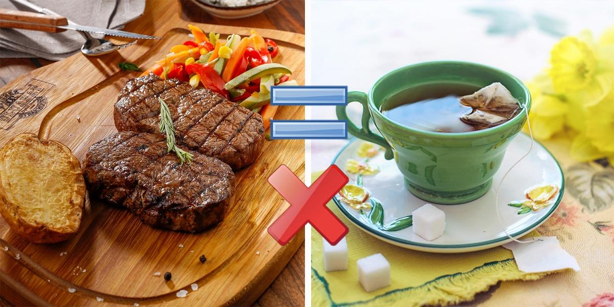 Галина рассказывает, что в чае содержатся танины, которые нарушают всасывание железа