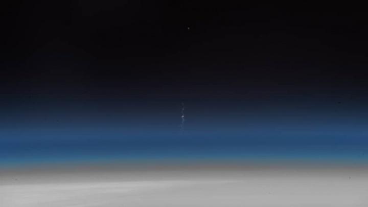 Уральский космонавт опубликовал фотографии аварии «Союза», снятые с МКС