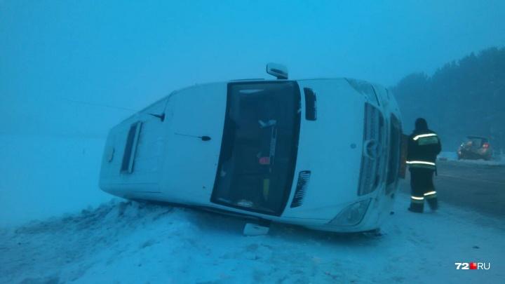 Два пассажира микроавтобуса погибли утром в массовом ДТП под Тюменью