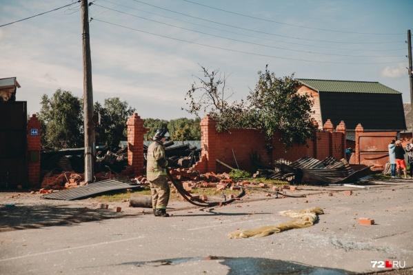 Дом в Боровском, взорвавшийся накануне, был подключен к магистральному газопроводу