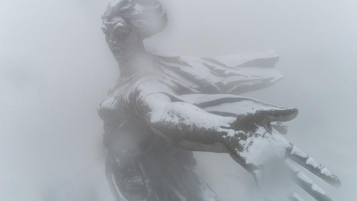 Снег и две порции дождя: смотрим фотографии Волгограда, укрывшегося белым«ковром»