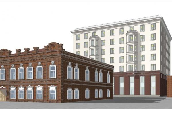 Гостиницу предлагают построить в самом центре Екатеринбурга — на улице Вайнера