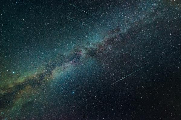 Так выглядел метеорный поток минувшей ночью