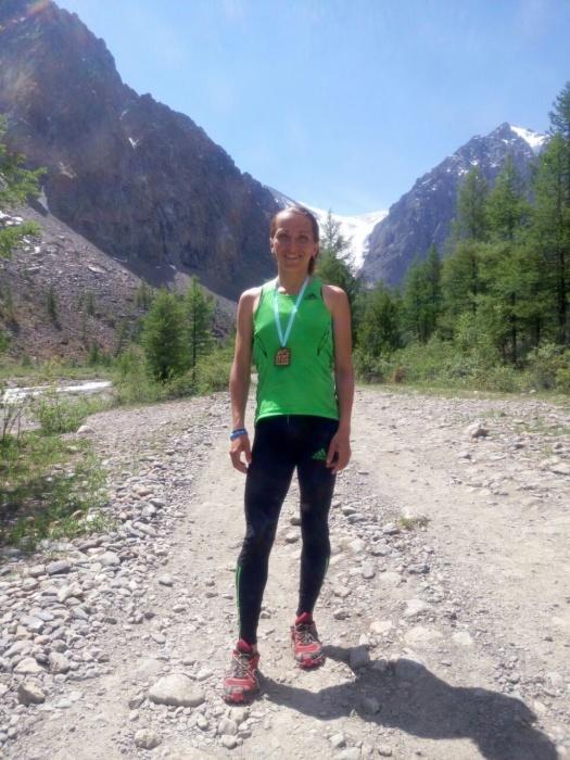 Елена Рухляда, победительница высотной гонки в Актру