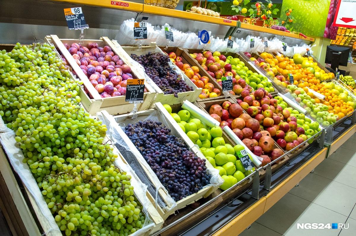 А вот гроздь винограда выйдет дешевле. 2014 год. Разбег цен от 144 до 189 рублей