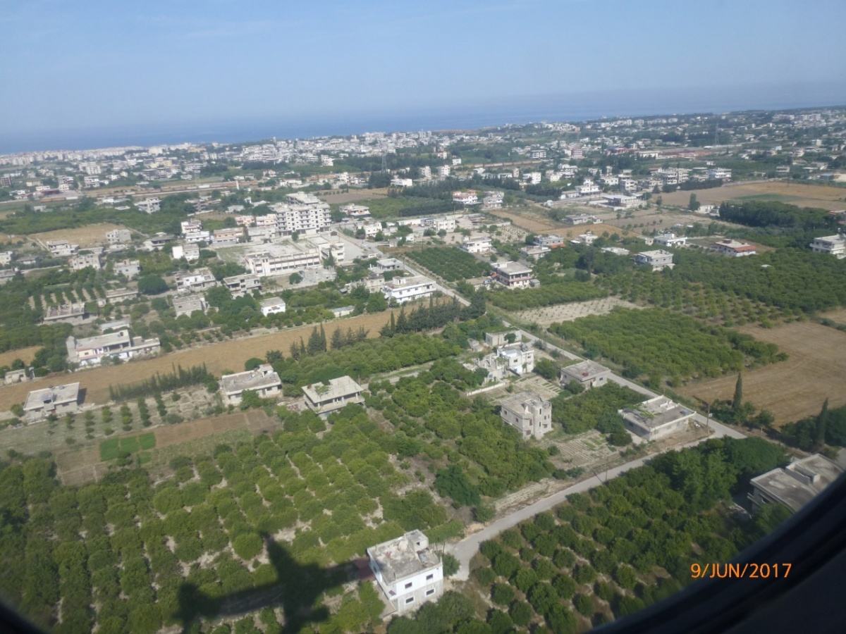 Окрестности Дамаска, вид из самолета