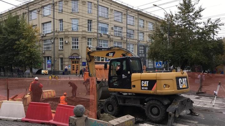 Улицу Советскую перекопали ради ремонта теплотрассы